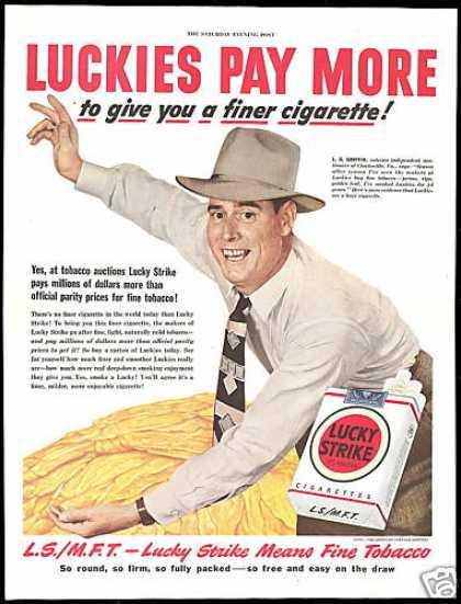 Lucky Strike Cigarette Tobacco Auctioneer (1949)