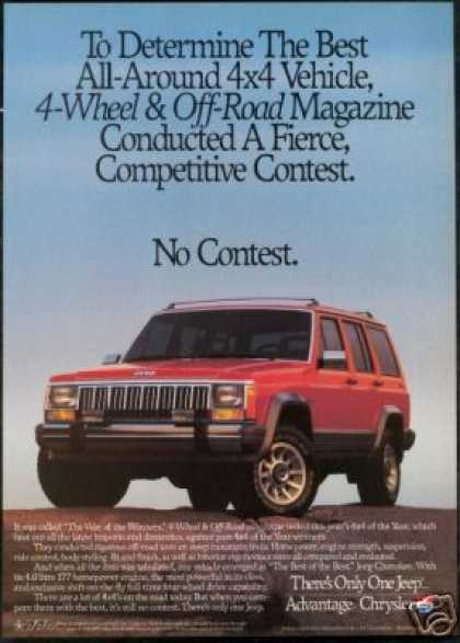 Red Jeep Cherokee Photo The Best Vintage (1990)