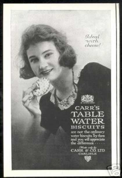 Carr's Biscuits Pretty Woman Photo Vintage UK (1924)