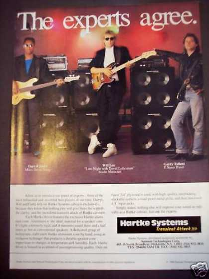 Garry Tallent Hartke Systems Cabinets Music (1988)