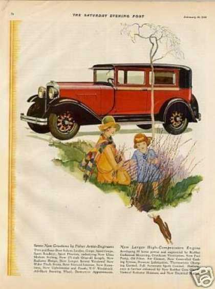 Oldsmobile Car Color Ad 2 Page (1928)