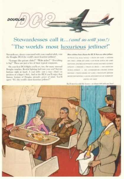 Douglas DC-8 Luxurious Jetliner Stewardesses (1959)