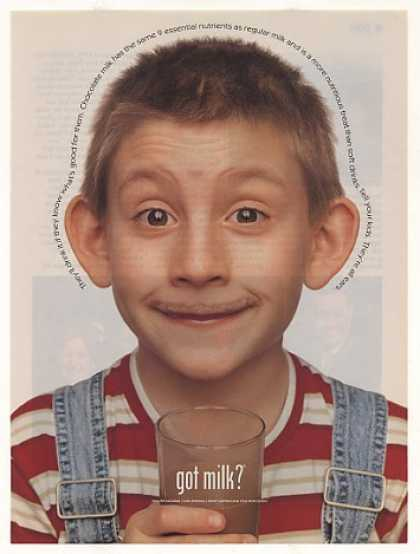 Erik Per Sullivan Got Milk Chocolate Mustache (2001)