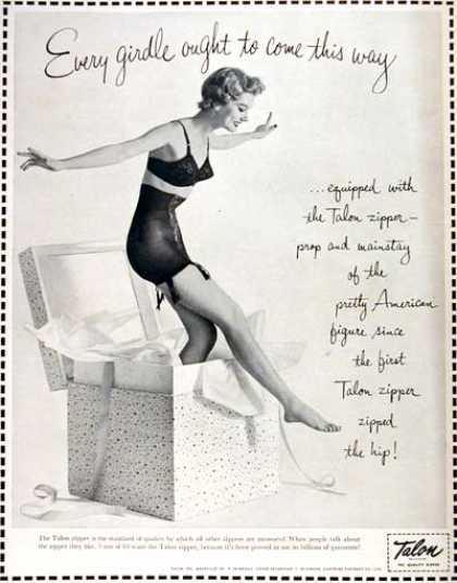 Talon Zipper Girdle (1954)