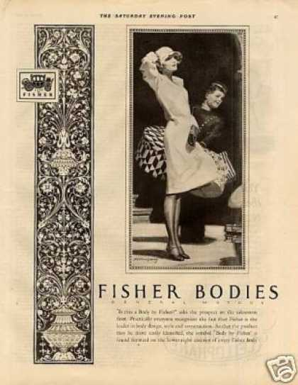 Body By Fisher Ad Barclay Art (1927)
