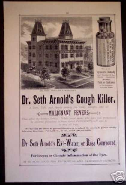 Dr. Seth Arnold's Cough Killer Cure Medicine (1881)