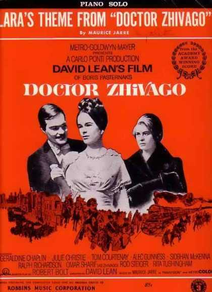 Lara's Theme from Doctor Zhivago Movie Sheet Music (1965)