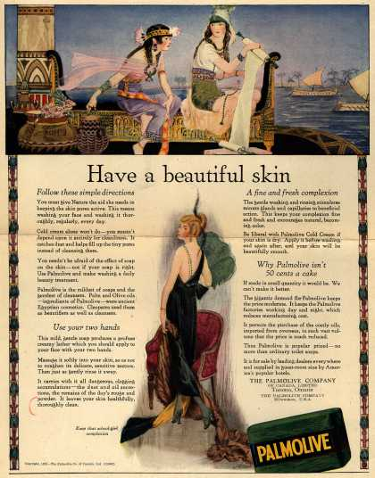 Palmolive Company's Palmolive Soap – Have a beautiful skin (1921)