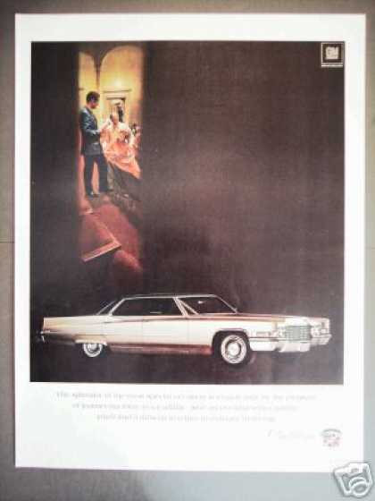 Cadillac Gold Sedan Deville Original Car Photo (1969)