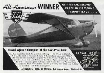 Aeronca Chief 50 Photo Firestone Trophy (1939)