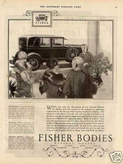Body By Fisher Ad Donald Gardner Art (1927)
