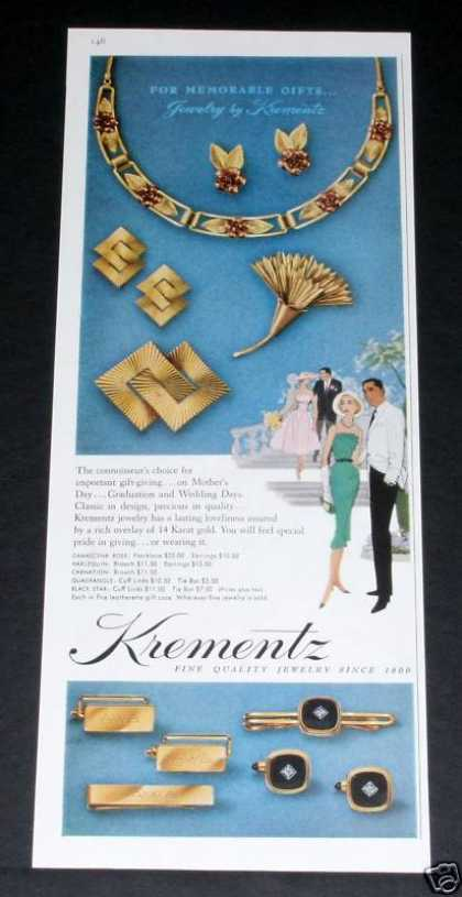 Old , Krementz Jewelry, Since 1866 (1957)