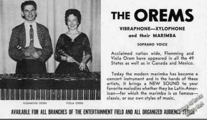 Flemming & Viola Orem Photo Vibraphone Trade (1959)