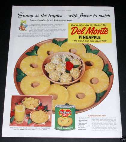 Del Monte Canned Pineapple (1949)