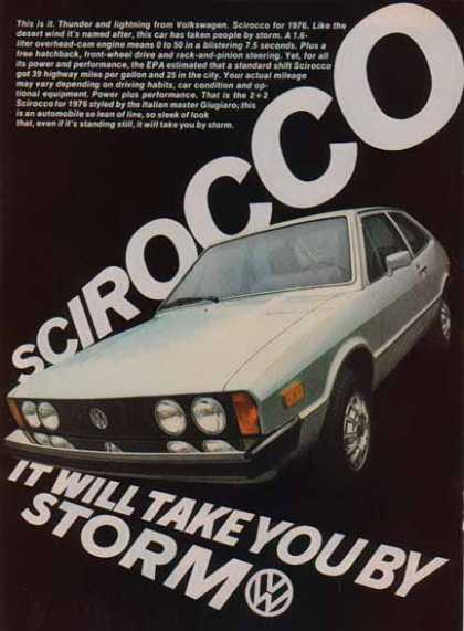 Volkswagen Sirocco Car – Silver- Take You By Storm (1976)