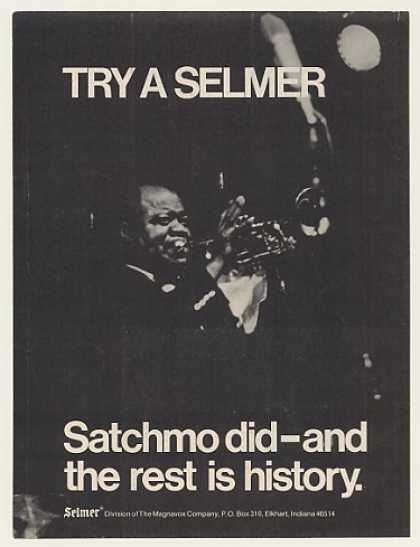 Satchmo Louis Armstrong Selmer Trumpet Photo (1970)