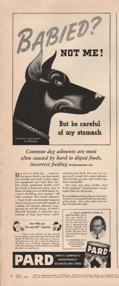 Babied Not Me Pard Dog Food (1941)