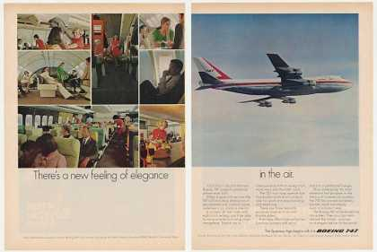 Boeing 747 Jetliner Elegance Jet Photo 2-Page (1969)