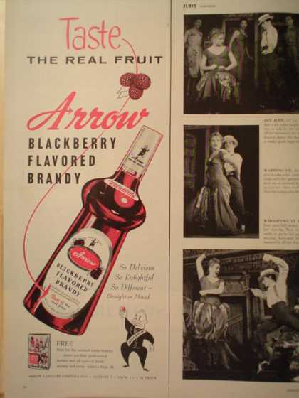 Arrow Blackberry Brandy half page (1957)