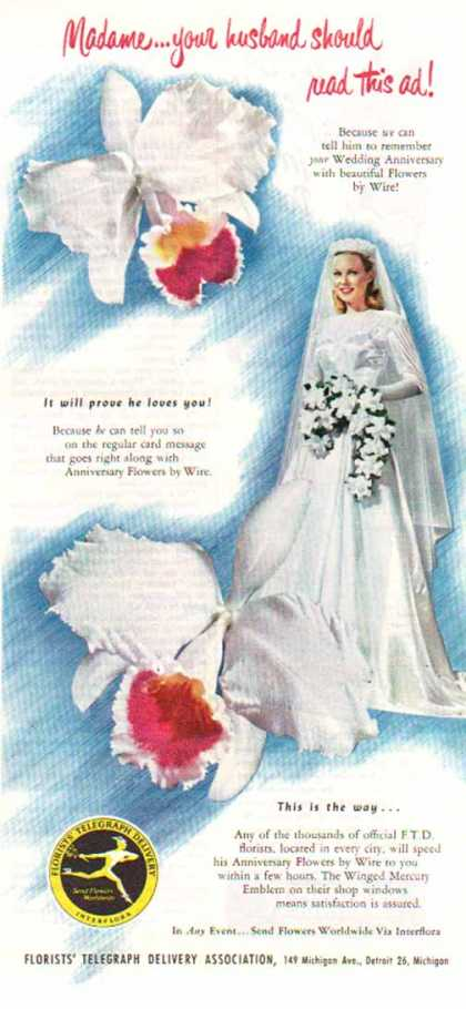 FTD Florist – Madame your husband should read this (1949)