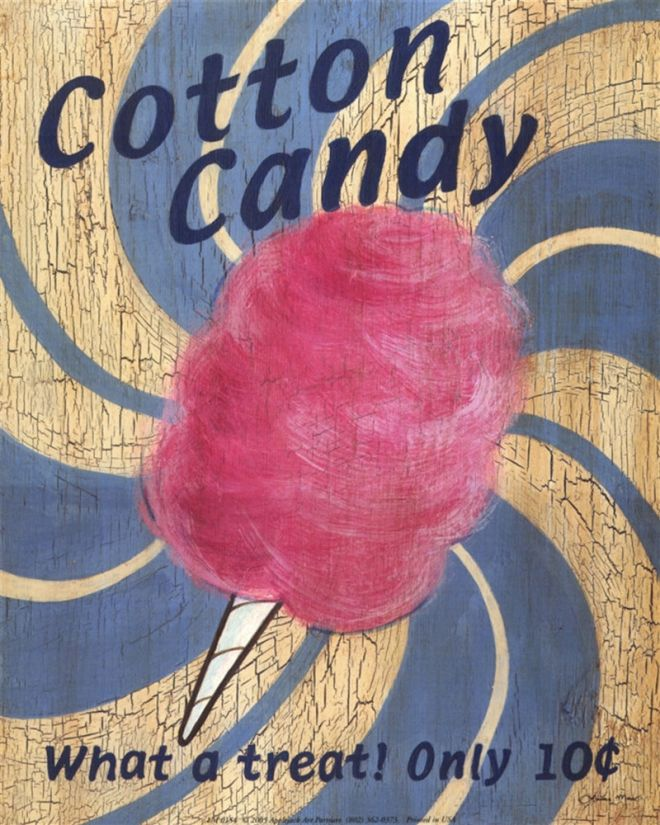 Cotton Candy Sign: Vintage Food Advertisements (Page 61) Of Miscellaneous Years