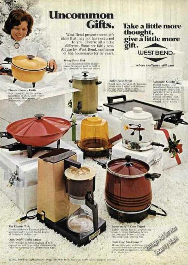 west bend small appliances   uncommon gifts       vintage household ads of the 1970s  page 10   rh   vintageadbrowser com