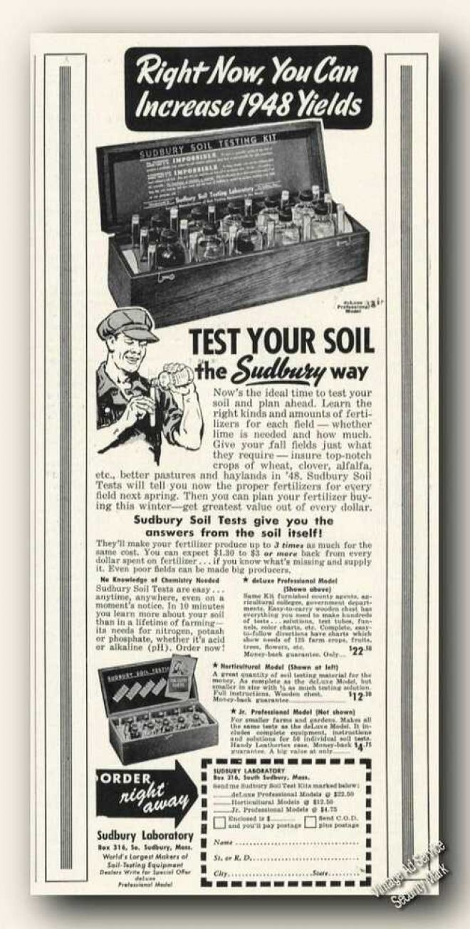 sudbury soil test kit instructions