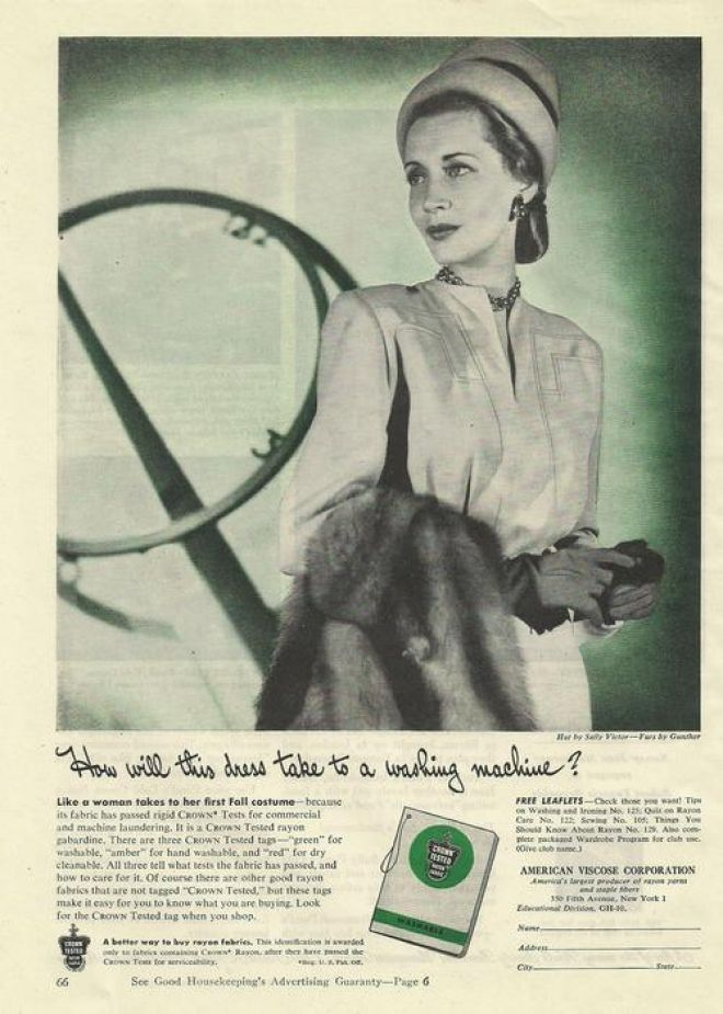 Vintage Clothes/ Fashion Ads of the 1940s