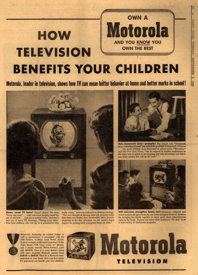 tv advertisement on a child s mind The first advertisement  after we have looked at objects we can see them in our mind's  this magazine contains monthly articles on the psychology of advertising.