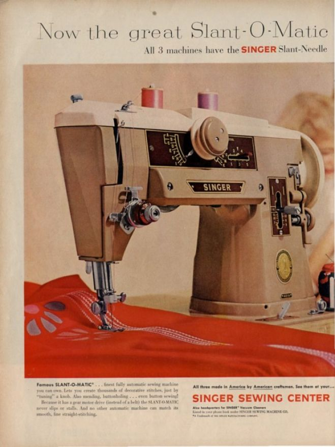 What shall Singer sewing vintage ads