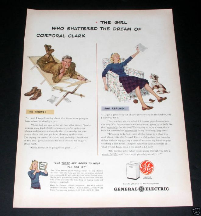 vintage ge washing machine ads