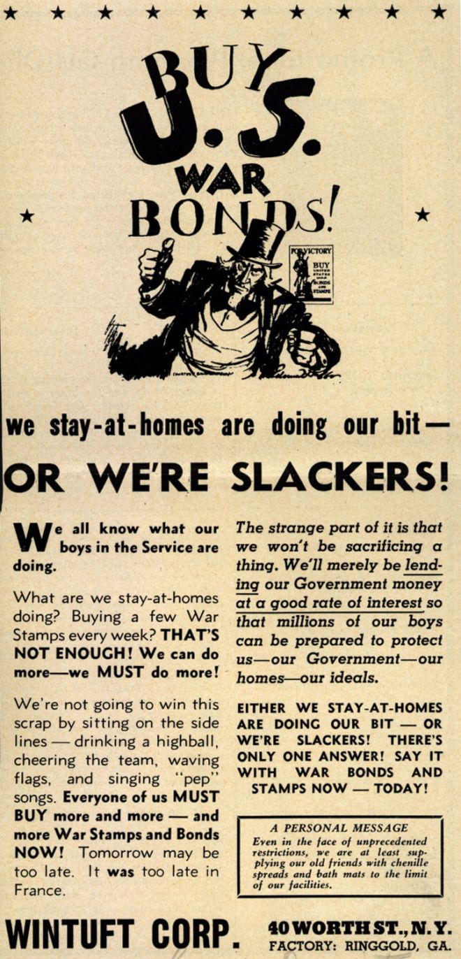 Doing Our Bit … or We're Slackers!
