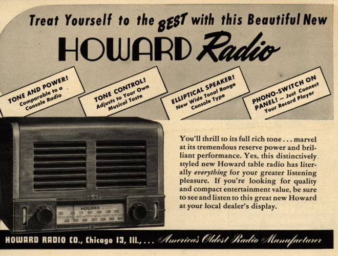 Howard radio company s radio treat yourself to the best with