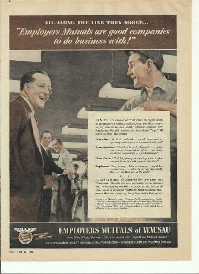 Vintage Money Insurance And Banking Ads Of The 1950s