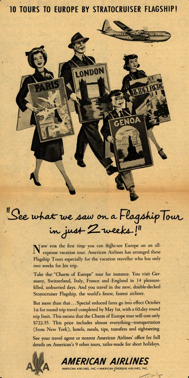 Vintage Airlines And Aircraft Ads Of The 1940s