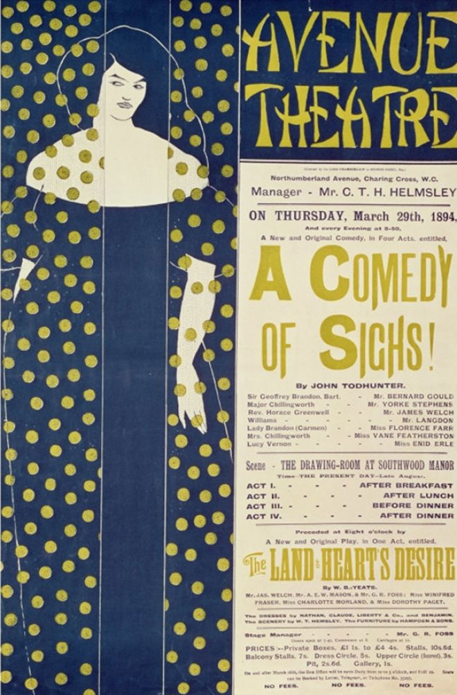 Poster Advertising A Comedy Of Sighs, A Play By John Todhunter (1894)