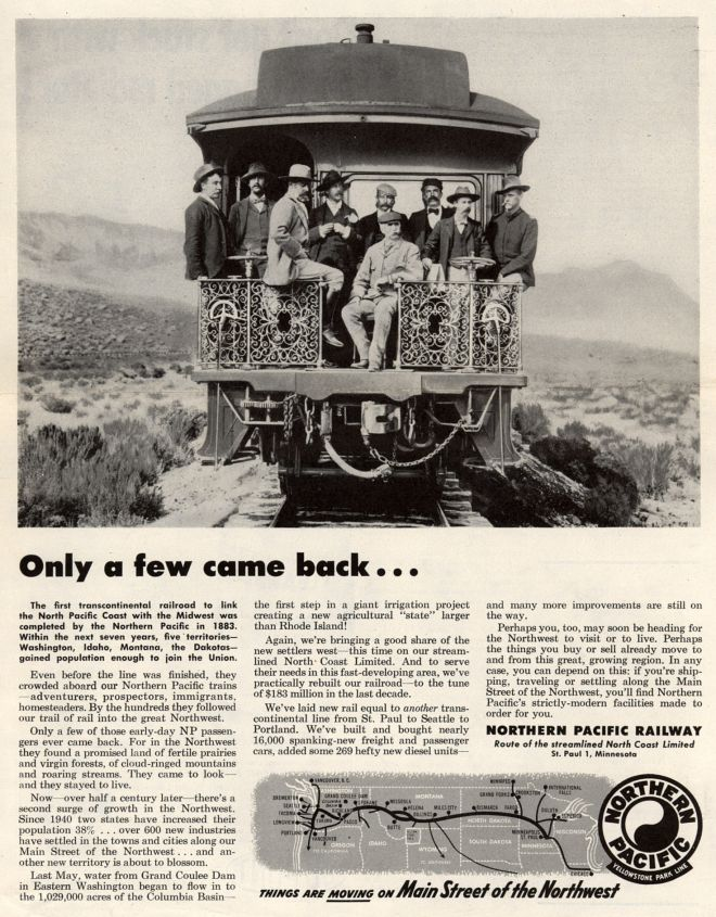 Vintage Transportation Ads of the 1950s (Page 78) Pacific Railway Company