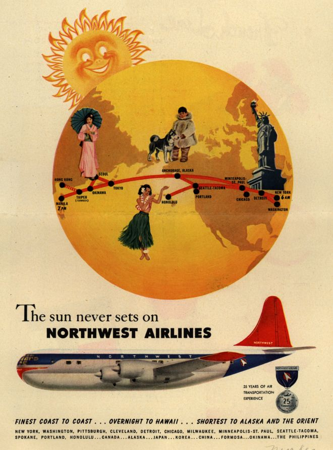 Vintage Airlines And Aircraft Ads Of The 1950s