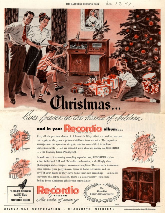 Wilcox Gay Corporations Recordio Christmaslives Forever In The Hearts Of