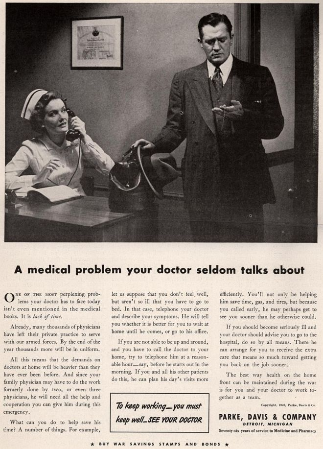 Parke Davis Company A Medical Problem Your Doctor Seldom Talks About 1942