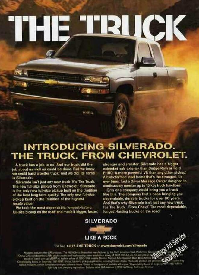 Introducing Silverado The Truck From Chevrolet 1999