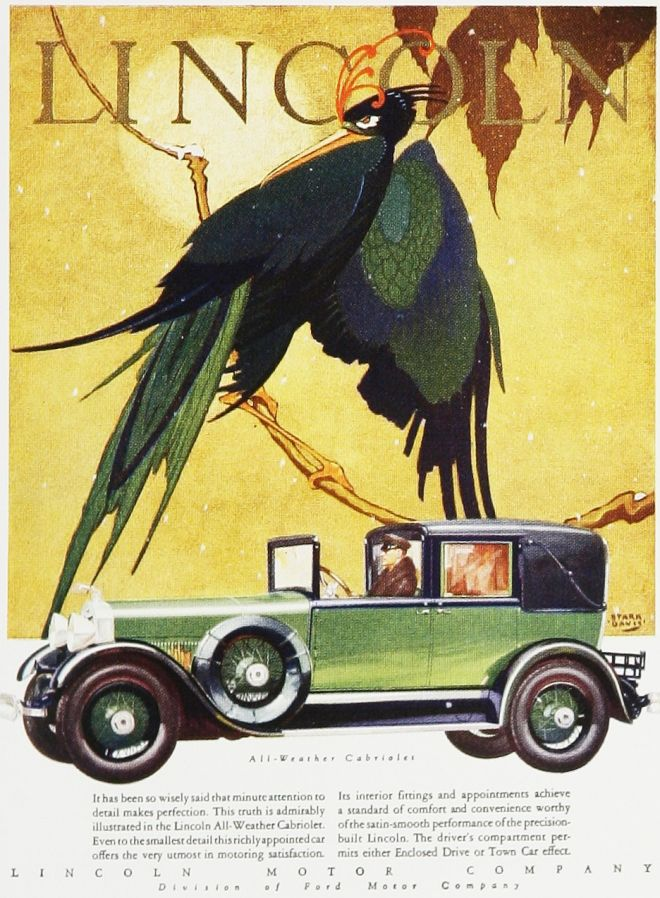 Vintage car advertisements of the 1920s page 33 for Lincoln motor car company