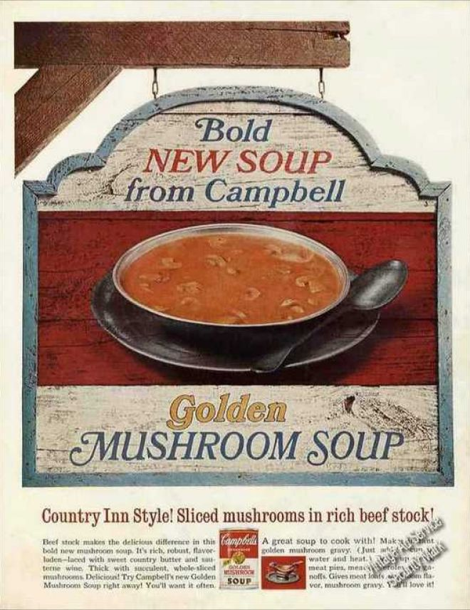 Campbells Golden Mushroom Soup Collectible 1967