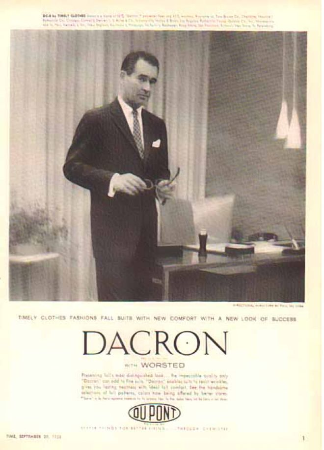 Vintage Clothes/ Fashion Ads of the 1950s (Page 57) Dacron 1954