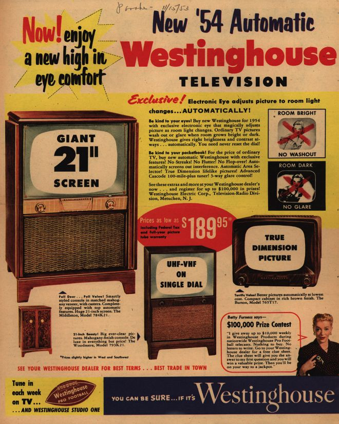 Antique Radio Forums • View topic - Grandfather's 1954? Westinghouse TV