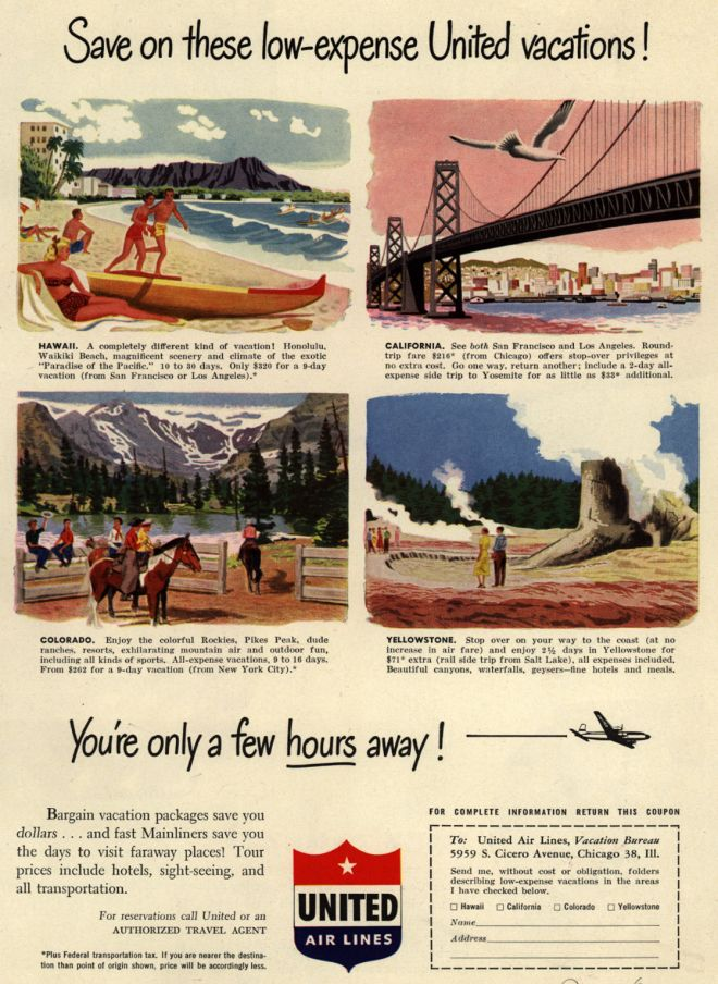 Vintage Travel And Tourism Ads Of The 1950s Page 29