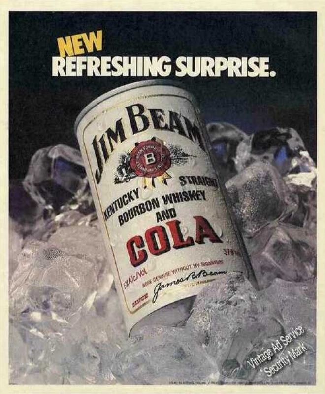 Vintage Drinks Advertisements of the 1980s