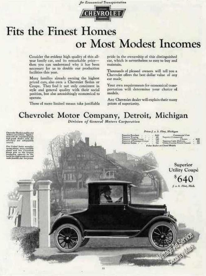Chevrolet Collectible Antique Car 1924
