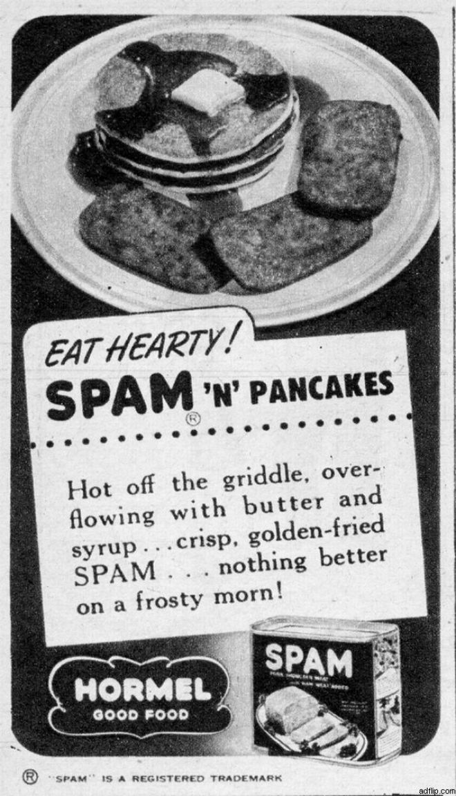 Vintage Spam Advertisements Of The 1940s