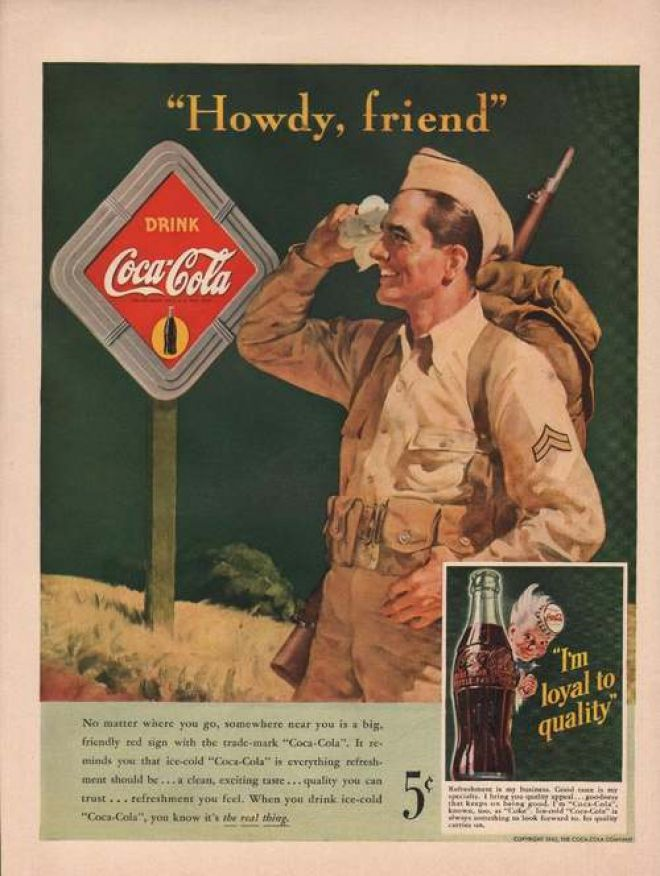 Howdy Friend Drink Coca Cola 1942